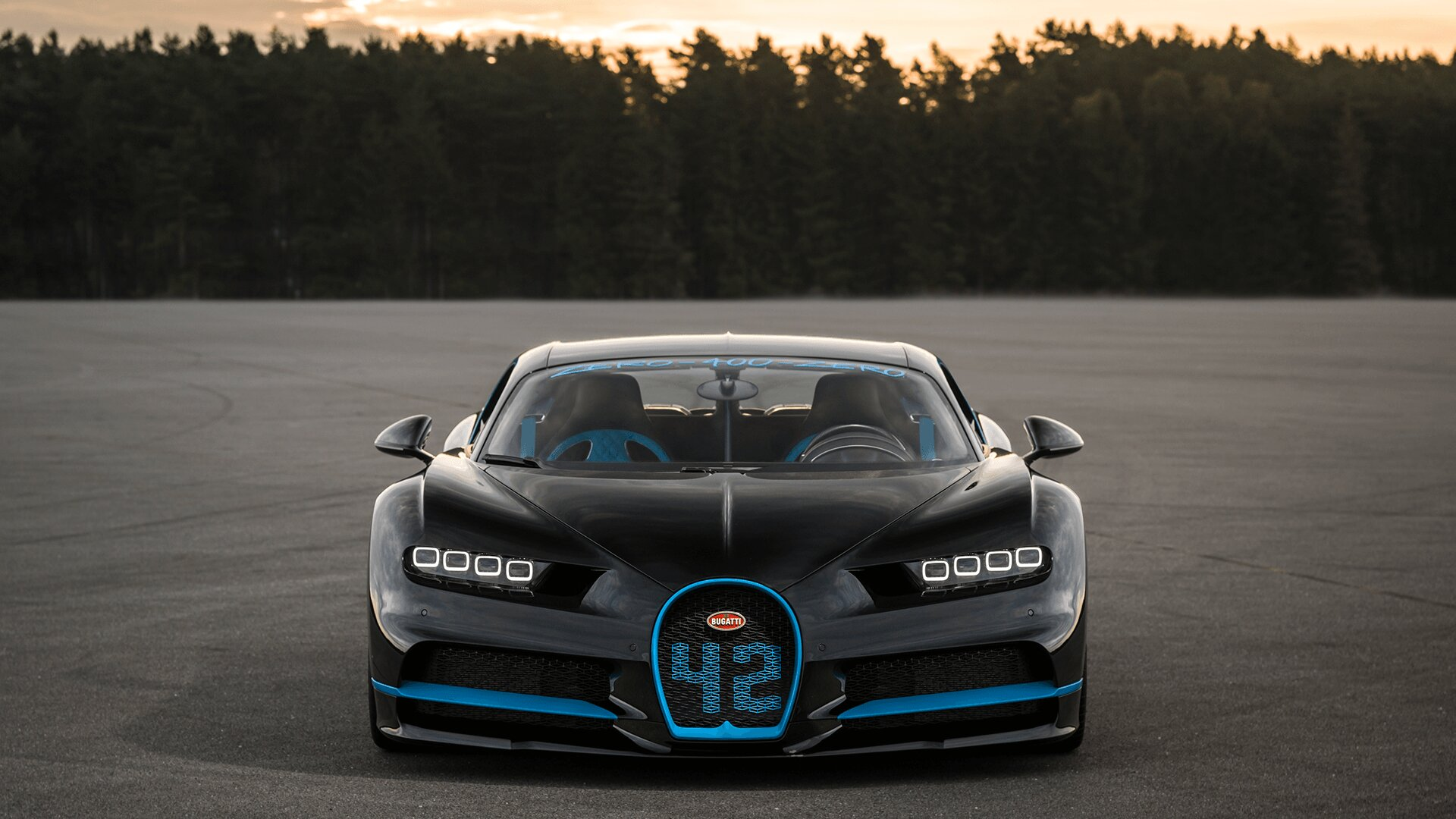 0-400-0 km/h in 42 seconds: the Chiron sets world record
