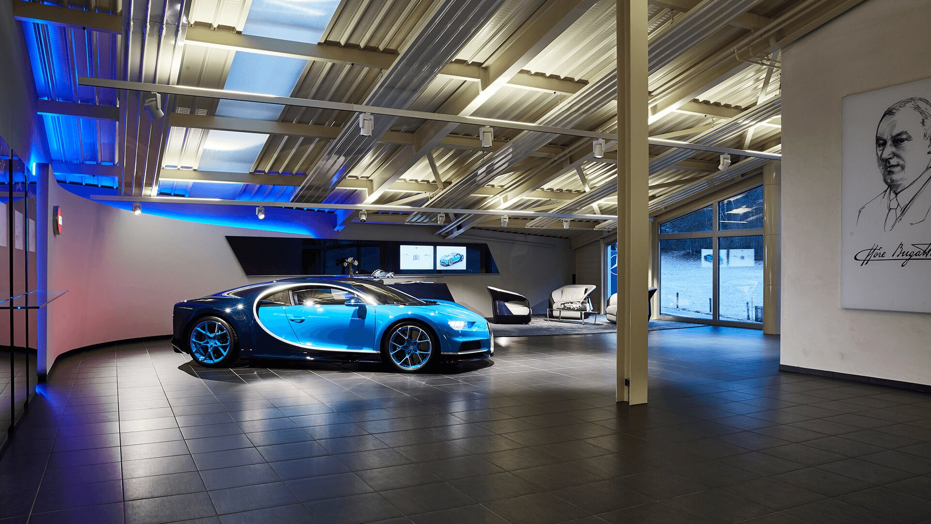 Bugatti showroom Gstaad