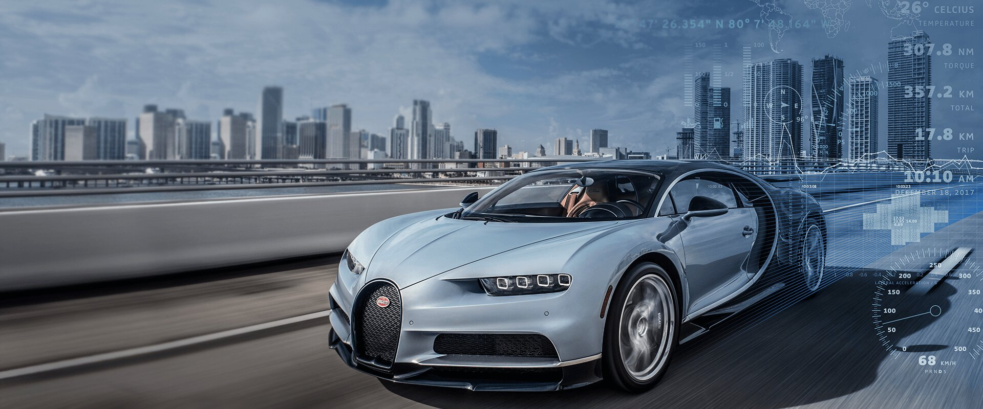 [Translate to Deutsch:] Bugatti Connected Car