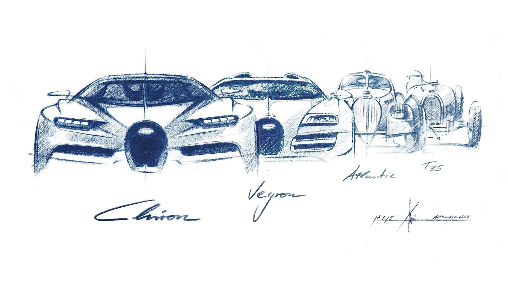 [Translate to Français:] Evolution of the iconic Bugatti horshoe grill
