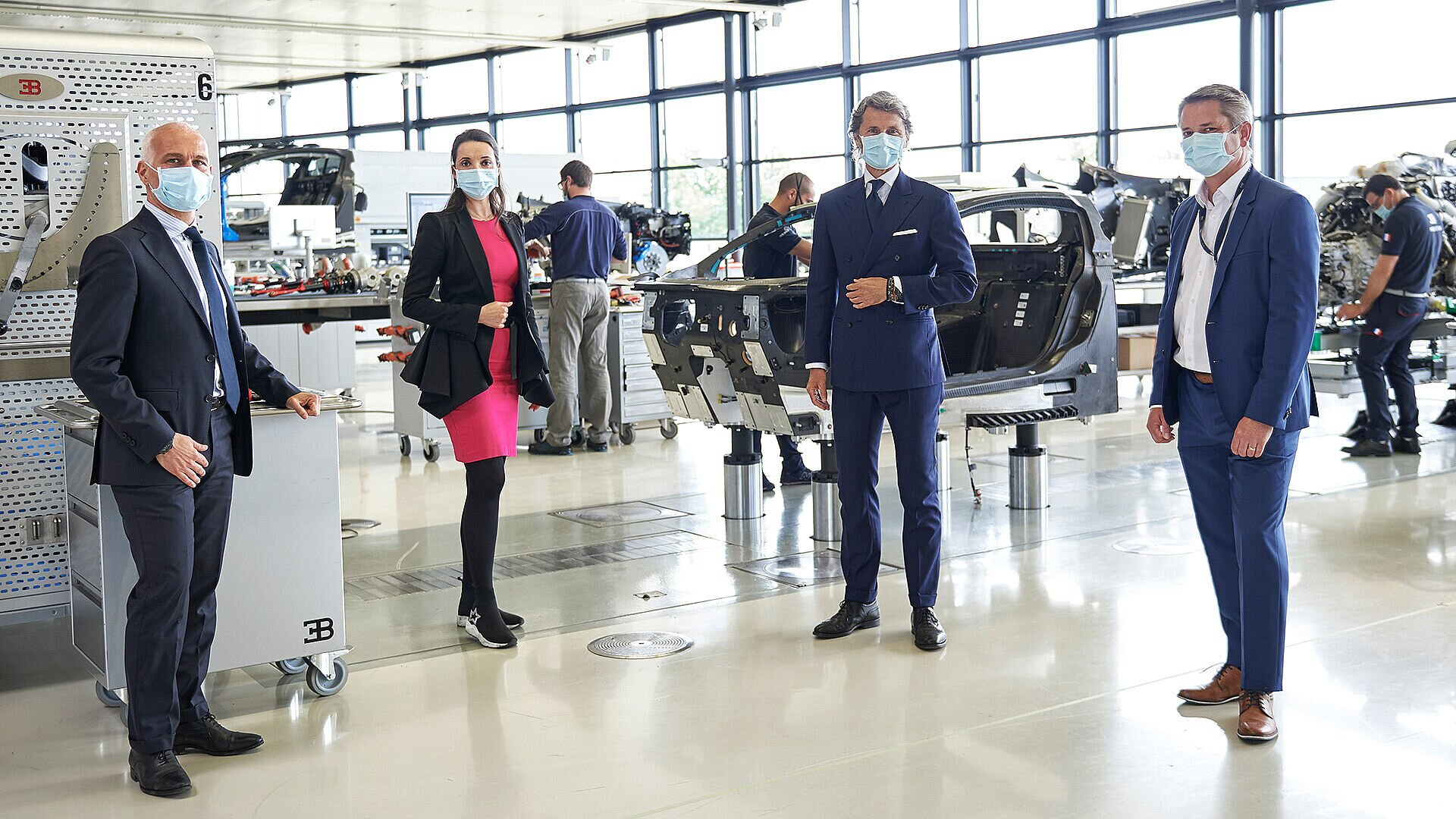 Covid-19 pandemic: Bugatti restarts production in the workshop - Image 1