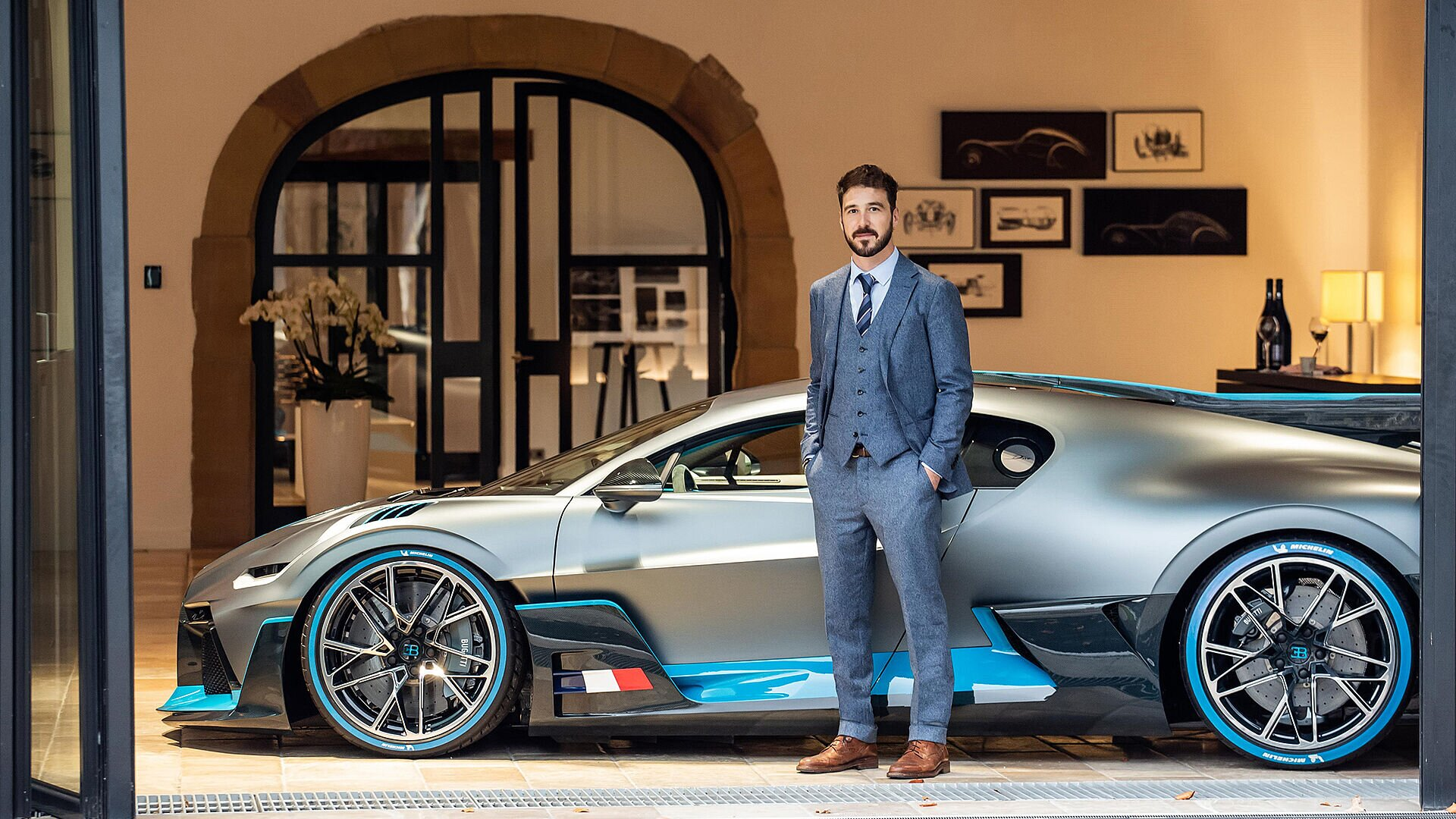 Summer 2019: Paolo Fanucci at the Bugatti headquarters in Molsheim.