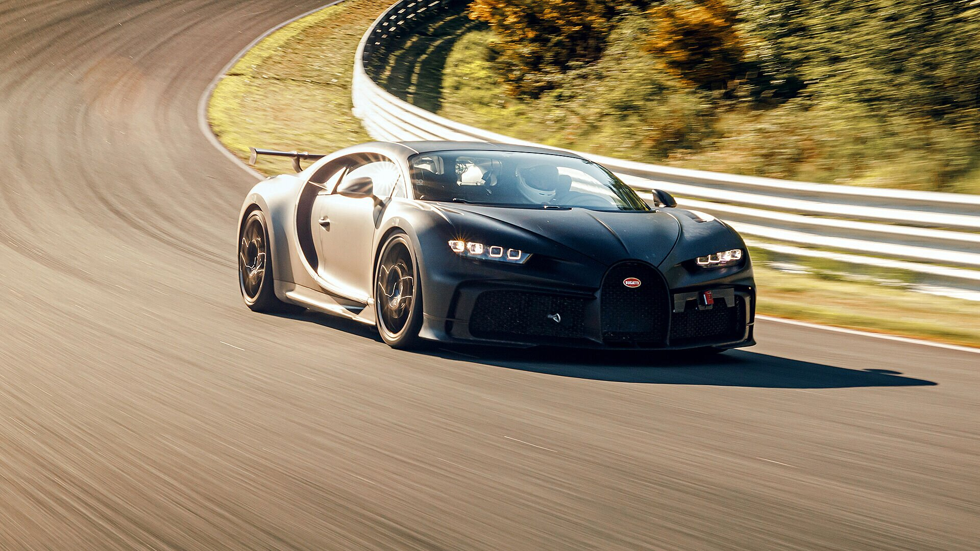 Fine-tuning of the new Chiron Pur Sport is now in the final stages, with test runs being carried out at Bilster Berg in Germany.