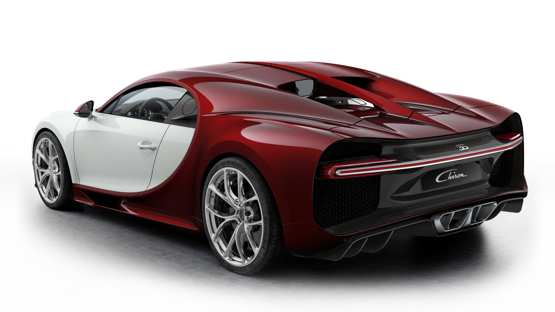 Bugatti Chiron Blank Red Rear