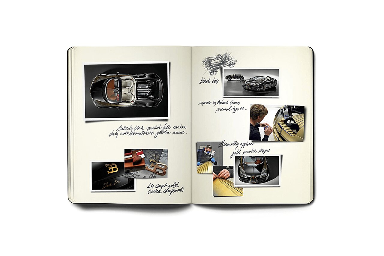 Bugatti Veyron Black Bess Sketchbook